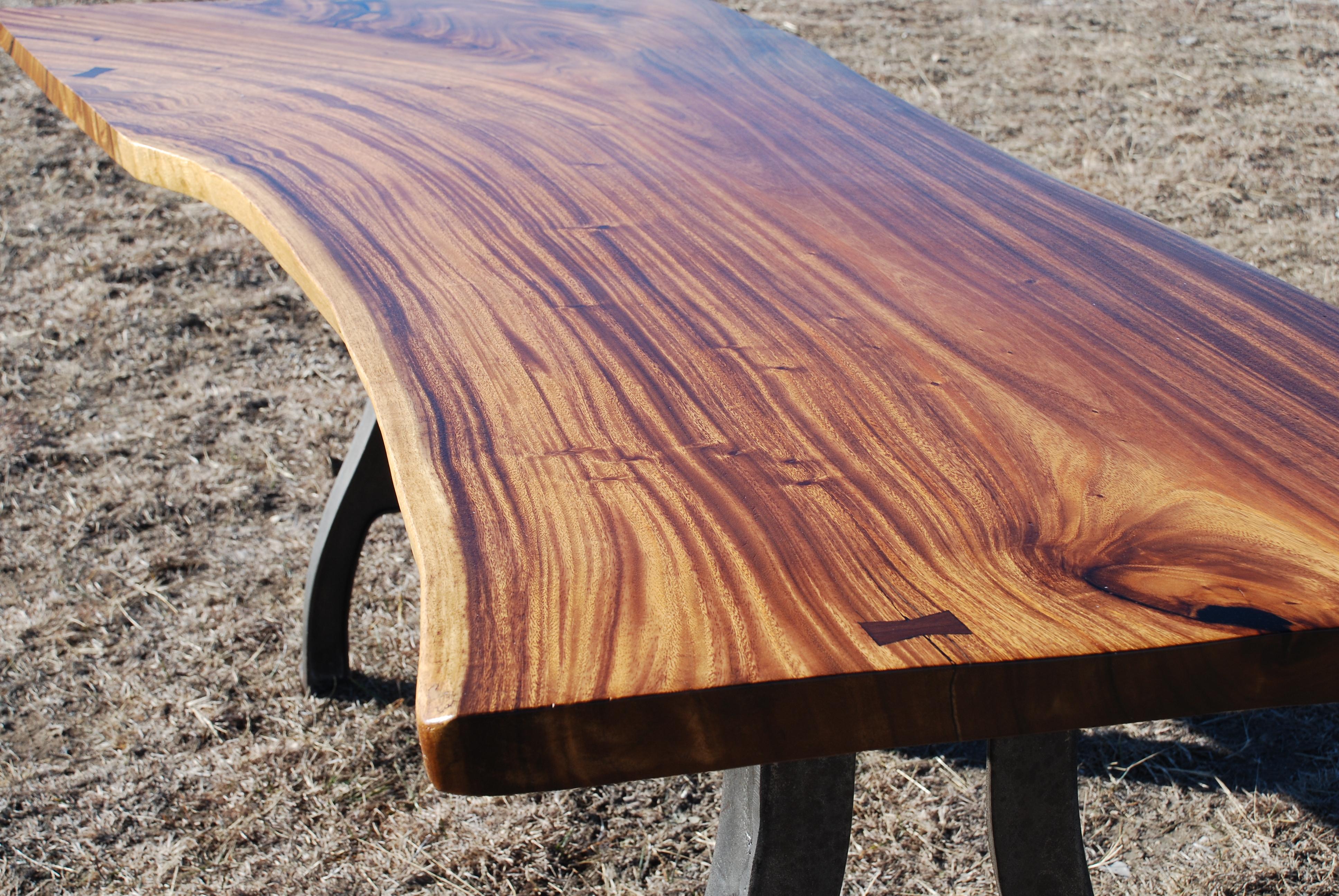 Natural Edge Slab Table Life In The Corner